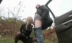 Old man blowjob and cumshot