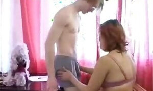 Russian mommy wants her son's stiff cock