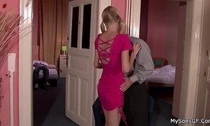 Blonde gf cheating him riding another cock xVideos