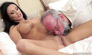 Busty Samantha Rebeka fucked by an old gentleman xVideos