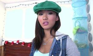 Cute Asian teen Alina Li showing us her body Beeg