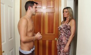 Handyman Kris is helping his buddys mom Kristal