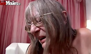 Mature chicks drill him with a strapon