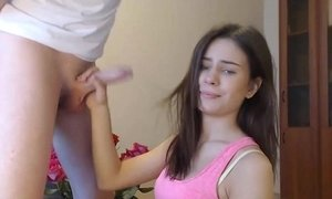 Teen Practicing Her Deepthroat On Her Stepbrother xVideos