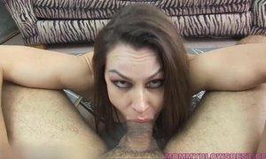 Newbie MILF Nora Noir gives first porn deep throat xVideos