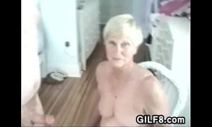 Naughty Granny Gives Her Man A Blowjob xVideos
