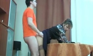 Virgin Nerd Shows His Dick To The Mature Woman For A First Time AnalDin