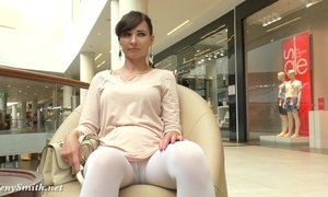 Jeny Smith - white pantyhose spycam AnalDin