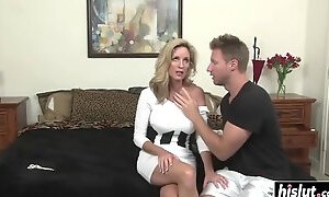 Busty milf seduces her son's best friend