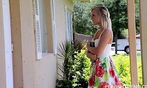 Cute teen Bailey Brooke fucked brutally by horny neighbour