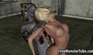 Hot 3D blonde honey getting fucked hard by a zombieombie-high 1 xVideos