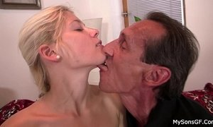 She sucks and rides older man cock xVideos