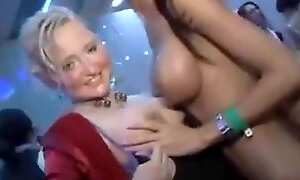 Stunning chicks get banged in jail party