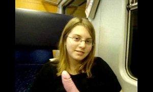 19 years old german teen masturbates in train xVideos