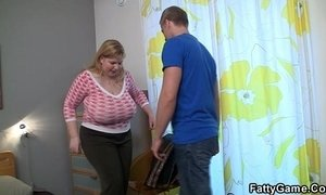 Horny fatty seduces hot young guy xVideos