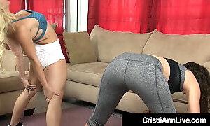 Nympho Cristi Ann & Victoria Monet Grind Their Pussies!