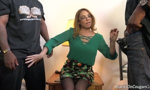 Always sex-hungry whore Kiki Daire gets fucked by a duo of black guys AnySex