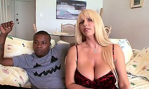 Huge breasted MILFie cowgirl Karen Fisher is totally into riding BBC