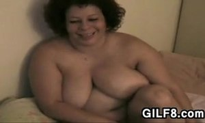 Big Granny With Her Pussy And His Dick