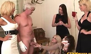 Tempting experienced lady taking part in amazing sex party