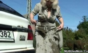 Wife catches then fucking outdoor xVideos