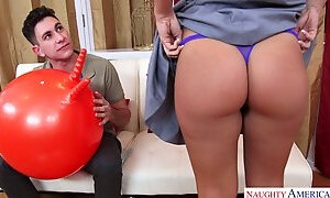 Sexually charged Keisha Grey enjoys riding hard cock reverse and face to face