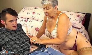 Ambrosial buxomy UK mature woman getting an amazing hard core sex