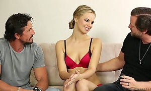 Crazy cuckold fuck where her husband watches her bang a guy