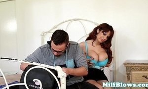 Bigtitted cougarmama deepthroating lucky dude xVideos