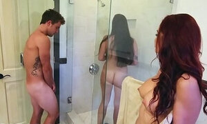 Bathtub Threesome With Karlee Grey and Stepmom Monique Alexander