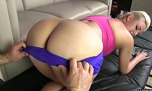 Sport babe Jenna Ivory is riding hard penis before crazy doggy style sex