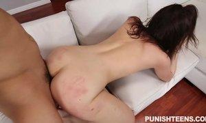 Young brunette Kylie Quinn enjoys hardcore fuck after doing blowjob