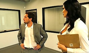 Mega busty and big assed realtor Jasmine Jae seduces one of her clients