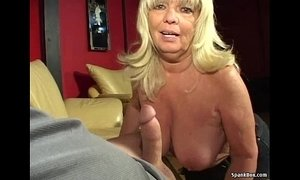 Busty blonde gives head while smoking xVideos
