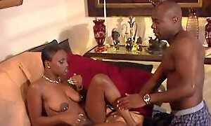 Candid ebony cowgirl with nipple piercings enjoys getting drilled hardcore