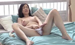 Vibrator play during sensual masturbing