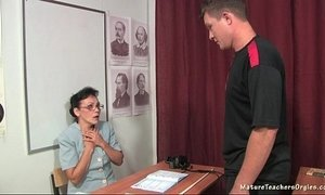 Russian mature teacher Kayla history lesson