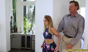 Iggy Amores teen pussy eaten and licked by step dad