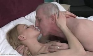 blonde girl, old men xVideos