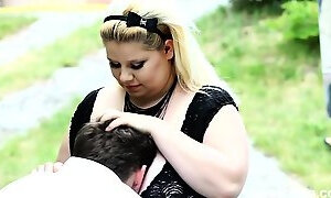 BBW using her massive ass to smother her slave?s face