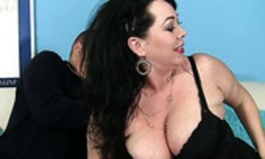 BBW whore Alexis Couture is serving her regular young client AnySex