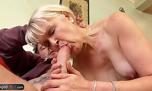 AgedLovE Mature Blonde and Handy Man Hardcore Sex