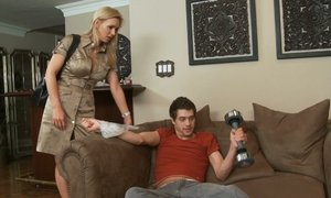 Tanya Tate and her son's friend Beeg