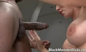 Busty Brunette Anal Fucked with Black Cock AnalDin
