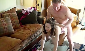 Mom daughter watched her fuck step-dad