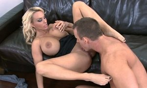 Blonde big titted mom gets fucked Beeg