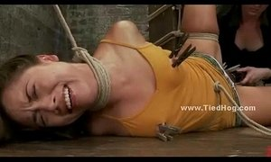 Gagged and tied up girl is shocked xVideos