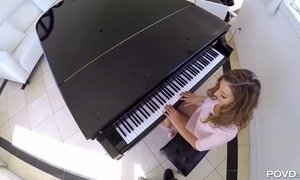 Incredible College Girl Doesn't Mind To Make Love After Piano Lesson AnalDin
